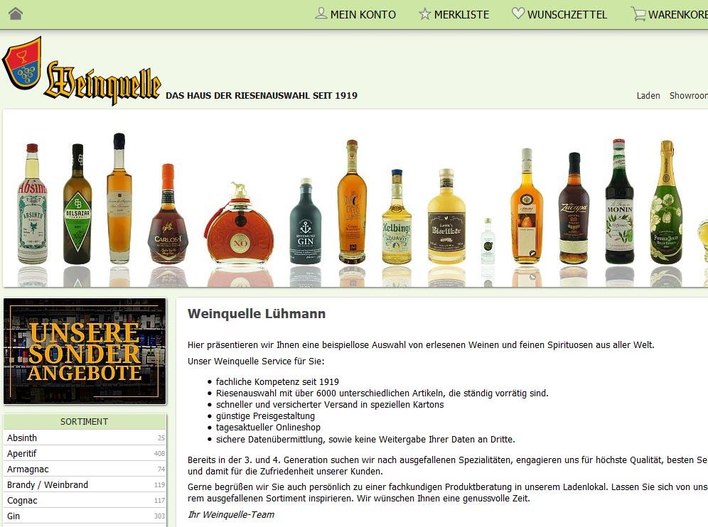 Weinquelle Lühmann